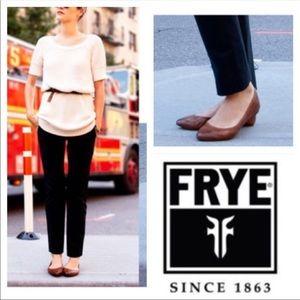 NWT Frye Regina pointy flats genuine leather